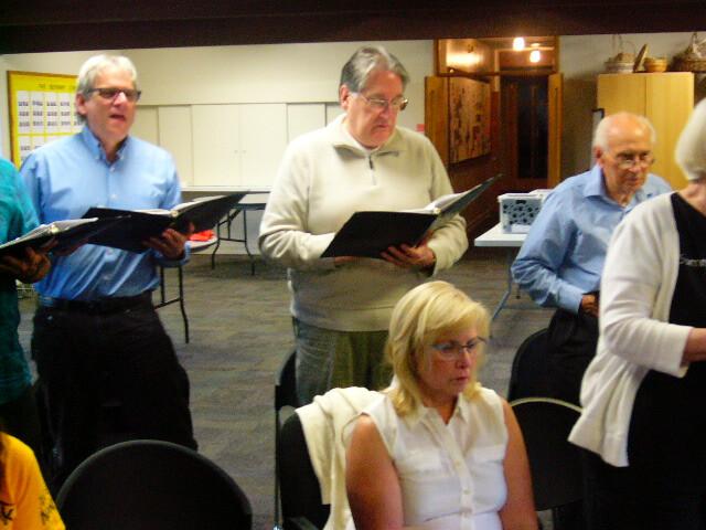 Zoom choir rehearsal